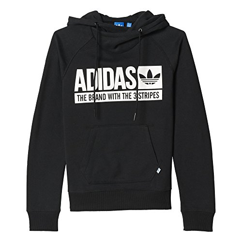 adidas Damen Sweatshirt Hoodie FLE Schwarz, 36 -
