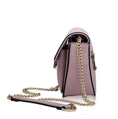 La signora YANX sacchetto di catena in pelle borsetta tracolla signora (20 * 15 * 7 cm) , red Black