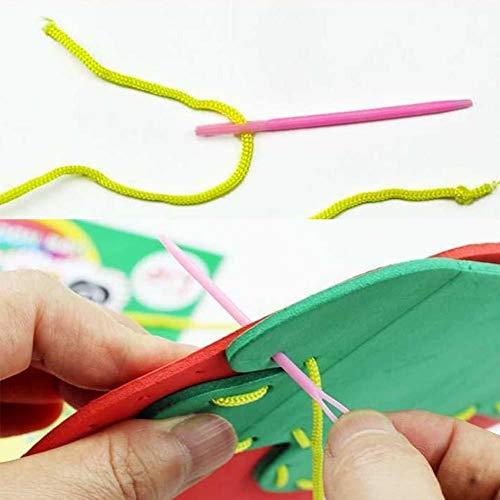 Hilai Handwerk Cartoon-Tasche Nähset für Kinder Anfänger Mädchen Nähen Projekt Muster Handtasche DIY Handgemachte Tasche 1pc Erdbeer Stil