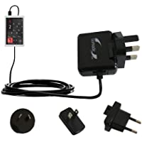 International AC Home Wall Charger suitable for the Cowon X9 - 10W Charge supports wall outlets and voltages worldwide - Uses Gomadic Brand TipExchange