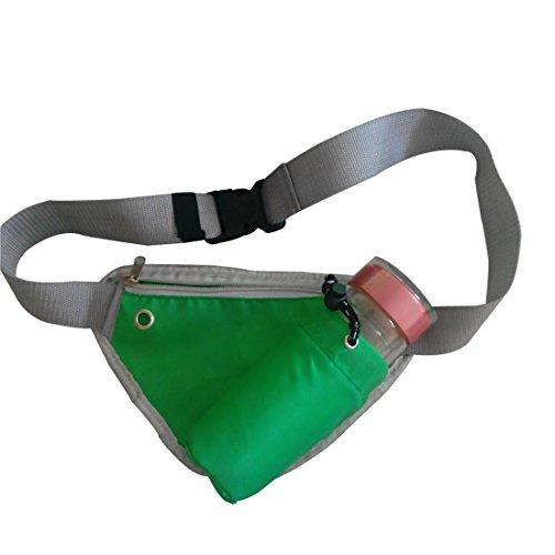 Vertvie Unisex Mode Outdoor Bauchtasche Hüfttasche Gürteltasche Sporttasche Satteltasche mit Flaschenhalter Multifunktionstaschen Fitnesstasche Handy-Paket Beutel Gruen