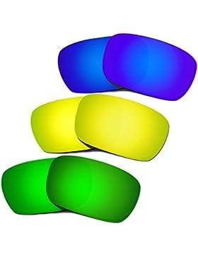Hkuco Plus Replacement Lenses For Oakley Jury Blue/24K/Green Sunglasses