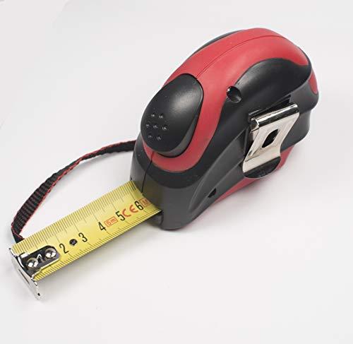 Bandmaß 3m, 5m, oder 7.5m Gummi und Kunstoff Autolock und Gürtelclip Maßband Rollmeter (5m x 25mm) 7.5 Gummi