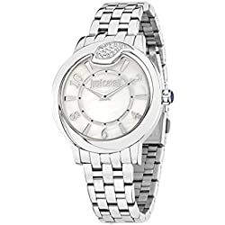 Just Cavalli Spire Women's Quartz Watch with White Dial Analogue Display and Orange Stainless Steel Strap R7253598501