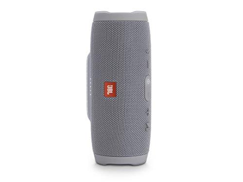 JBL Charge 3 Tragbarer Bluetooth-Lautsprecher Wasserdicht mit 6000 mAh Power Bank und Freisprechfunktion - Grau -