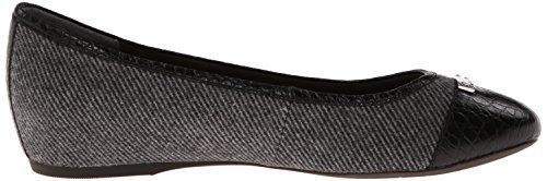 Rockport Captoe Large Toile Chaussure Plate Black