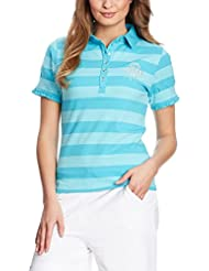 XFORE Golfwear - Polo -  - À rayures - Manches courtes Femme Turquoise Turquoise