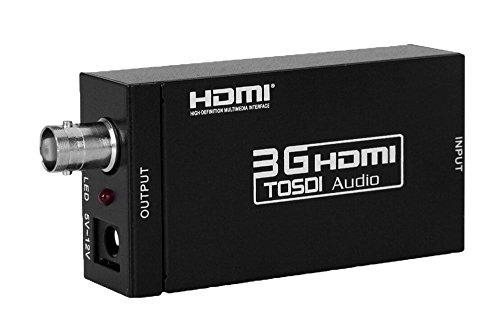 HDMI to zu auf SDI BNC Konverter Adapter AV Video Wandler SD SDI /HD SDI/ 3G SDI Converter 1080P 3D für HD-Kamera, Videorecorder, Blu-ray-Player und mehr zu SDI Monitor, SDI TV, nicht HDTV unterstützen Bnc Konverter