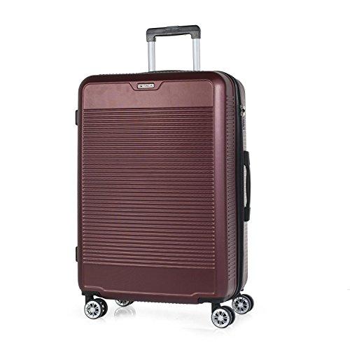 ITACA - T72070 Maleta trolley 70 cm grande XL ABS. Rígida, resistente, robusta y super ligera. Mango telescópico, 2 asas retráctiles. 4 ruedas. Talla XL., Color Rojo