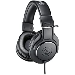 Audio-Technica ATH-M20x Over-Ear Professional Studio Monitor Headphones (Black)