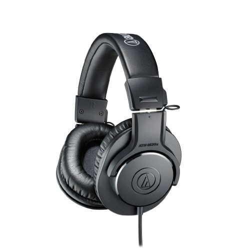 אוזניות ! Audio-Technica ATH-M20X Professional Headphones - Black