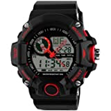 E9Q Los hombres de goma impermeable fecha del LED Digital alarma de los deportes al aire libre del Ejército reloj de pulsera