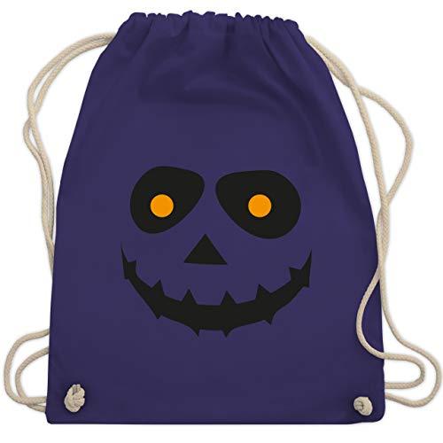 Halloween - Gruseliges Gesicht Fasching - Unisize - Lila - WM110 - Turnbeutel & Gym Bag (Halloween-gesicht Für Farben Jungs)