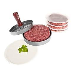 Savisto Premium Burgerpresse - Hausgemachte Hamburger presse herstellen mit 100 Anti-haft Scheiben