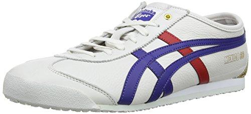Asics Mexico 66 Sneakers, Scarpe da Ginnastica Basse Unisex-Adulto, Multicolore (White/Dark Blue 152), 44 EU