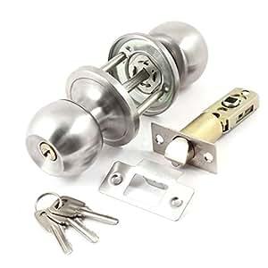 serrure tubulaire métal gris sûreté de sureté porte cylindre et poussoir 30/50mm
