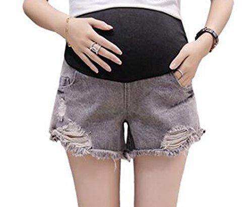 Keephen Été Nouvelle Mode Casual Réglable Ceinture Soins Ventre Porté Maternité Denim Shorts Keephen