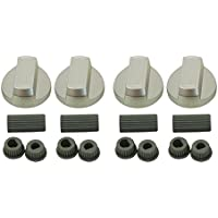 Flavel Universal Silver Control Knobs for Ovens, Cookers and Hobs (Pack of 4)