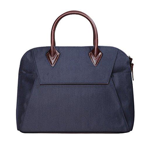 Männer Handtaschen-Aktenkoffer-Schriftsatz-Männer Geschäfts-Paket-Pers5onlichkeit-Segeltuch-Beutel-Computer-Beutel-Shell-Beutel-weibliche Beiläufige Beutel Ladydarkblue