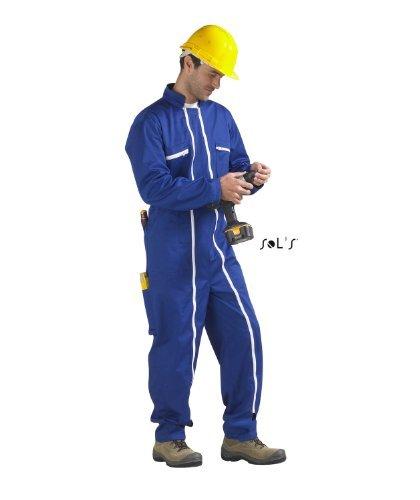 SOL'S–Tuta da lavoro uomo Workwear, doppia zip–80901–Blu grigio XXXXL