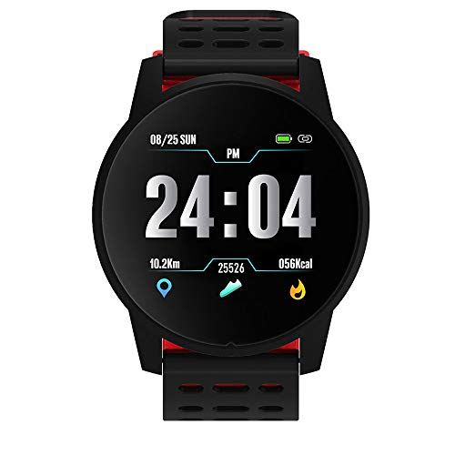 LUCKYGBY Smartwatch Silicona,Impermeable Reloj Inteligente con Cronómetro,Pulsera Actividad Inteligente...