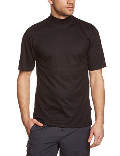 Trigema Herren T-Shirt Stehkragen, Einfarbig, Gr. XXX-Large, Schwarz (schwarz 008) (Kurzarm Rollkragen-shirts)