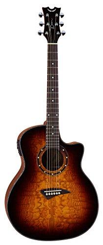 Dean Guitars EQA TBZ Exotica Quilt Ash-Chitarra elettroacustica, colore Trans Brazilia