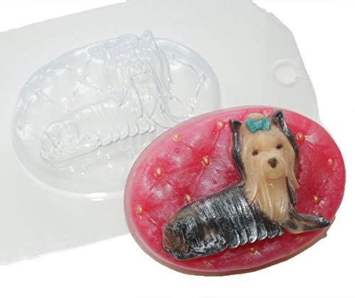 1pc Yorkshire Terrier Hund Tier Kunststoff Seifenherstellung Mold Mould 90x64x28mm -