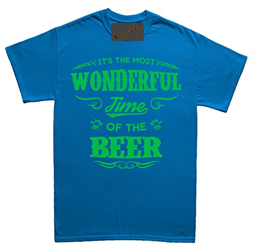 Renowned Its the Most Wonderful Time of the Beer Herren T Shirt Blau
