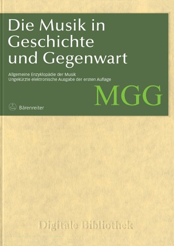 Digitale Bibliothek 060: MGG Musik in Geschichte und Gegenwart (PC+MAC) (Bibliotheken Digitale)