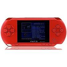 Polade 2.7inch LCD Wiederaufladbare Spielkonsole Retro Megadrive 16 Bit 150+ Spiele (rot)