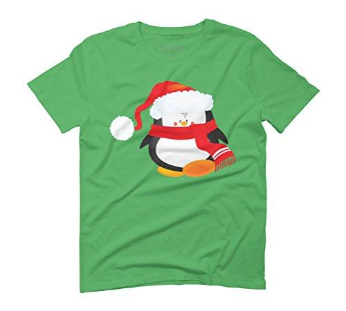 Christmas penguin Men's Graphic T-Shirt - Design By Humans Green