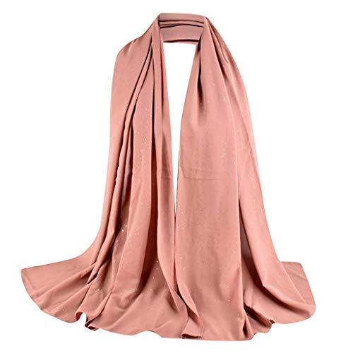 Lazzboy Frauen Abaya Islamischen Muslimischen Nahen Osten Hijab Scarf Wrap Headwear Muslim Damen Strecken Turban Hälfte Hals Wickeln Kopfbedeckung Haar Kopftuch Dubai Hidschab(M)