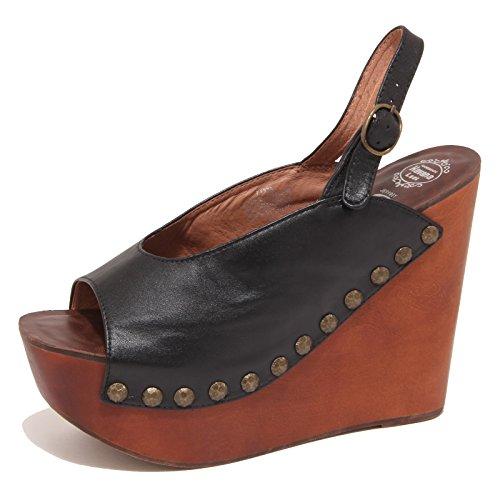 JEFFREY CAMPBELL 5812O santal calage santal sandal woman femmes Noir Noir