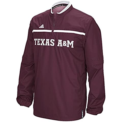 Texas A&M Aggies Adidas 2015 Sideline 1/4 Zip Climalite Convertible Jacket Giacca