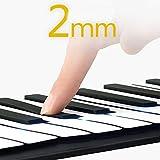 Lorenlli 88 tasten für hand klavier verdickung professionelle midi weiche tastatur falten tragbare elektronische orgel mit pedal