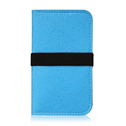 Filz Hülle Apple iPhone 6s / iphone 6 Tasche Cover Case Handy Flip Filztasche , Farben:Dunkel Grau Türkis