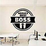 Wuyyii 47X42Cm Office Quote Il Miglior Capo Del Mondo Ispirare La Decorazione Dell'Ufficio Motivazione Adesivi In Vinile Murale Regalo Unico Per Boss