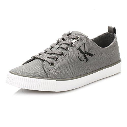 Calvin Klein Jeans Donna Grigio Dora Tela Sneaker-UK 7