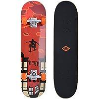 Schildkröt Skateboard Kicker 31'', Eccellenti Caratteristiche per Principianti, Piattaforma Concava con Double Kick e…