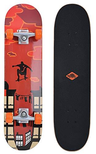Schildkröt Unisex- Erwachsene Skateboard 31´´,Komplett-Board mit tollen Features für Einsteiger, konkave Deckform mit Doppel-Kick und Griptape, 9-lagiges Ahornholz, Red Parkour, 510602, One Size -