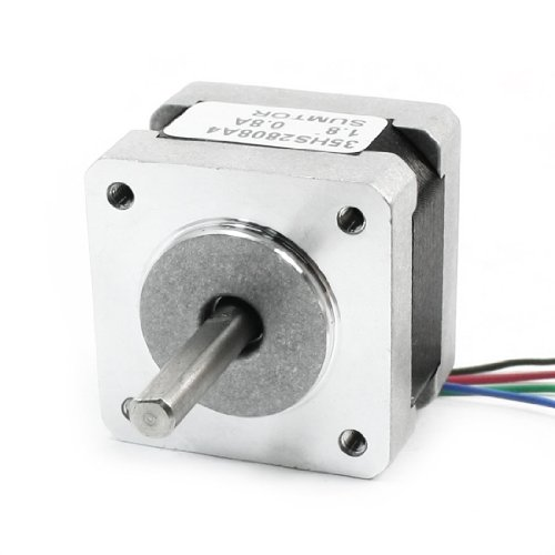 sourcingmap® Nema 14 4 Lead 1.8 Degree CNC Stepping Stepper Motor 28mm 0.8A 17oz.in Test