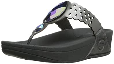 FitFlop Bijoo Pewter Womens Sandals Size 6.5 UK