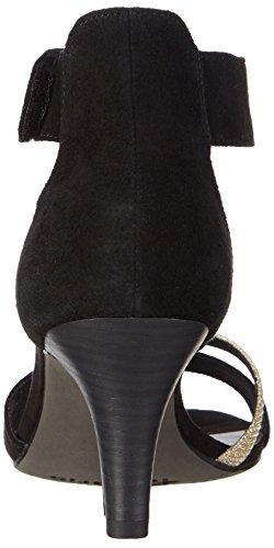 Tamaris 28305, Sandales Bride cheville femme Noir - Schwarz (BLACK/GLAM 025)