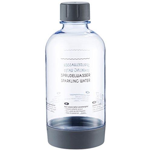 Levivo PET-Flasche mit Schraubverschluss, passend für viele SodaStream Sprudler, Grau, 0.7 Liter – hochwertige Kunststoff Flasche mit Deckel, in mehreren Farben, nicht für Levivo Wassersprudler (Grau Passend)