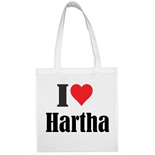 """Tasche""""I Love Hartha""""Größe""""38x42""""Farbe""""Weiss""""Druck""""Schwarz gebraucht kaufen  Wird an jeden Ort in Deutschland"""
