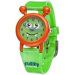 Furry Friends Orange Kooky Watch - Kids Boys Girls Fun Watches Animal