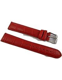 10mm Mesdames Crocodile en Cuir Véritable Imitation Crocodile pour bracelet rembourré SS Boucle Rouge/Rouge