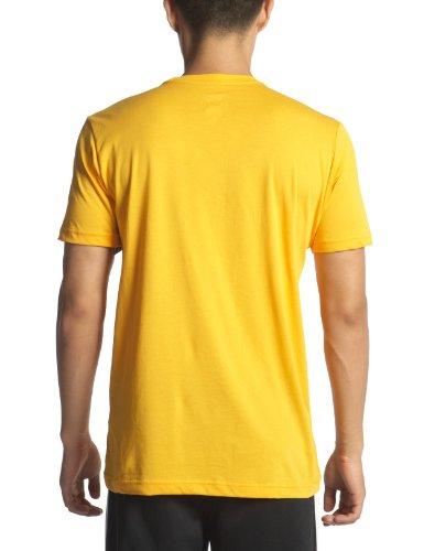 Nike Air Heritage-Tee-Maglietta a maniche corte da uomo Azul (Deep Royal Blue / Vivid Orange)