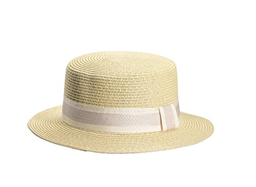 Miuno Unisex Panamahut Herren Damen Partyhut Stroh Hut H51067 (beige)